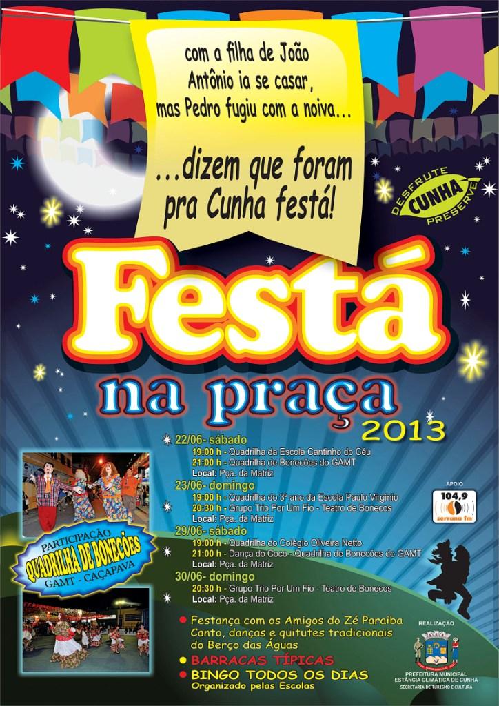 IMAGEM CARTAZ FESTÁ NA PRAÇA CURVAS para rádio Serrana2